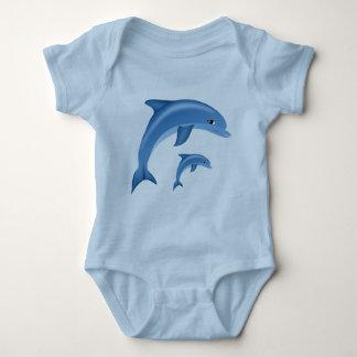 Sweet Dolphin. Sea Life, animal Baby Bodysuit