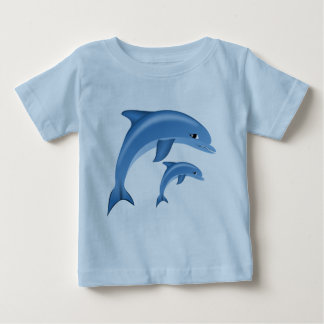 Sweet Dolphin. Sea Life, animal Baby T-Shirt