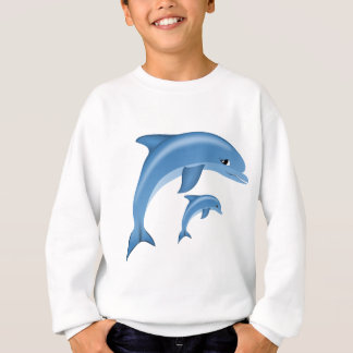 Sweet Dolphin. Sea Life, animal Sweatshirt