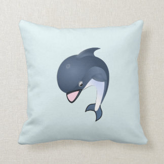 Sweet Dolphin Throw Pillow
