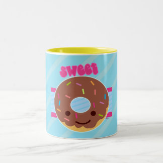 Sweet Donut Two-Tone Coffee Mug