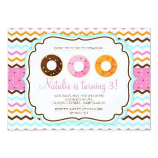 Sweet Donuts Birthday Party Card