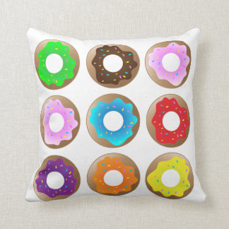 Sweet! Donuts! Throw Pillow