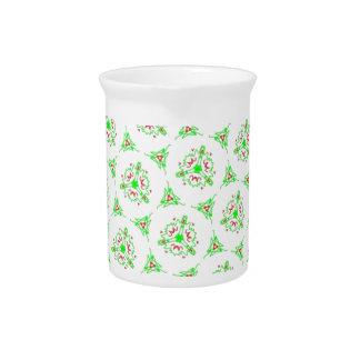 sweet doodle pattern green (I) Drink Pitcher