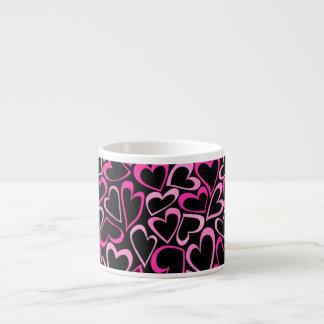 Sweet doodled pink hearts Espresso Mug