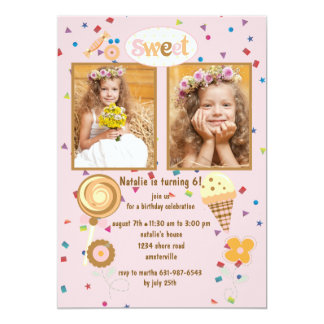 double birthday party invitations  announcements  zazzle, Birthday invitations