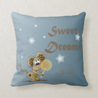 Sweet Dream Mouse Throw Pillow