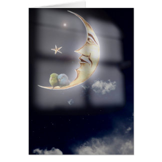Sweet dreams and good night sleeping birds card