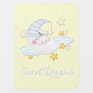Sweet Dreams Baby Boy Receiving Blanket