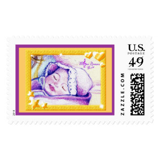 Sweet Dreams Baby Large US Postage Stamps
