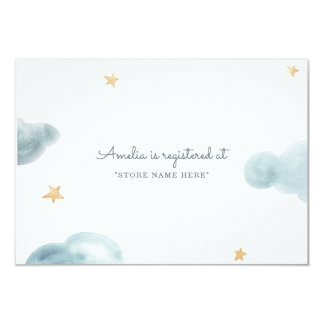 Sweet Dreams Baby Shower Insert Card