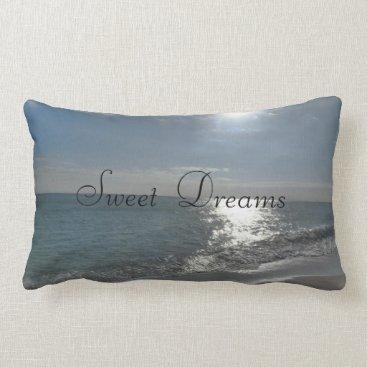 Sweet Dreams Beach Ocean Blue Scene Cushion Pillow