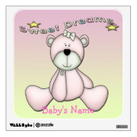 Sweet Dreams Bear Square Wall Decal