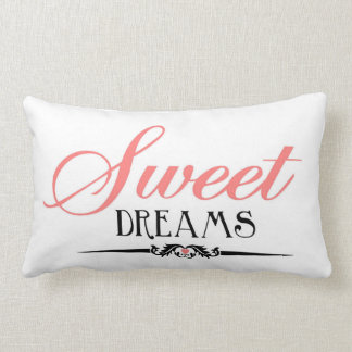 Sweet Dreams Bedroom Pillow by Enchanting Quotes