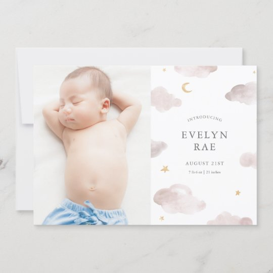 Sweet Dreams Birth Announcement Zazzle Com