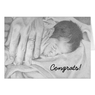 Sweet Dreams black and white, Congrats! Cards