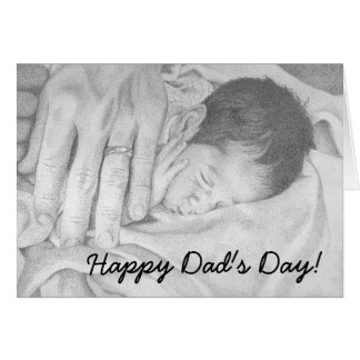 Sweet Dreams black and white, Happy Dad's Day! Cards