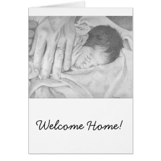 Sweet Dreams Black and White Welcome Home Card
