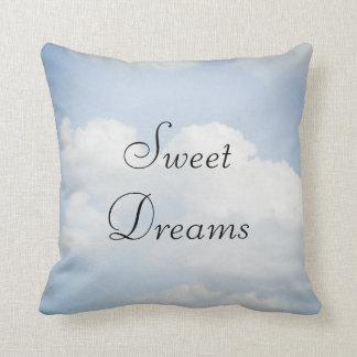 Sweet Dreams Blue Sky, White Clouds Throw Pillows
