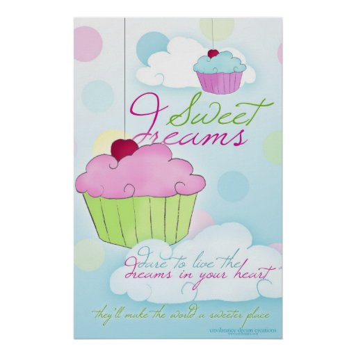 Sweet Dreams Cupcake Cloud Poster