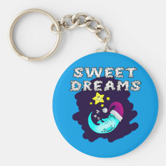 Sweet Dreams - Cute Moon Taking a Nap Keychain