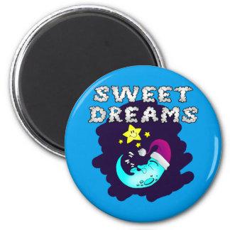 Sweet Dreams - Cute Moon Taking a Nap Magnet