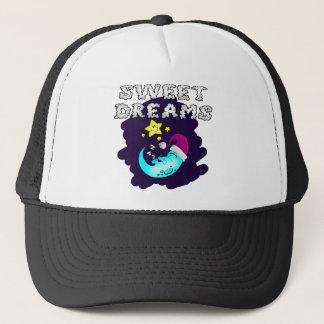 Sweet Dreams - Cute Moon Taking a Nap Trucker Hat