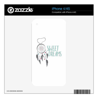 Sweet Dreams Decal For iPhone 4