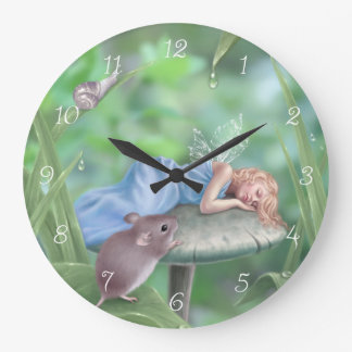 Sweet Dreams Fairy Wall Clock