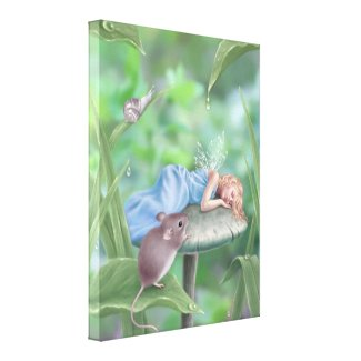 Sweet Dreams Fairy Wrapped Canvas Print zazzle_wrappedcanvas