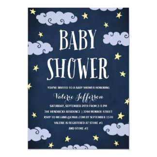 Sweet Dreams | Illustrated Navy Blue Baby Shower Card