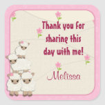 Sweet Dreams LAMB Baby Shower square sticker SDK