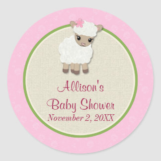 Sweet Dreams LAMB Baby Shower sticker SDK#1
