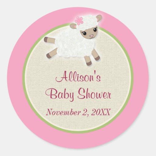 Sweet Dreams LAMB Baby Shower sticker SDK#2