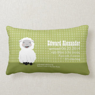 Sweet Dreams Lamb Green Personalized Baby Pillow