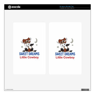 Sweet Dreams Little Cowboy Decals For Kindle Fire