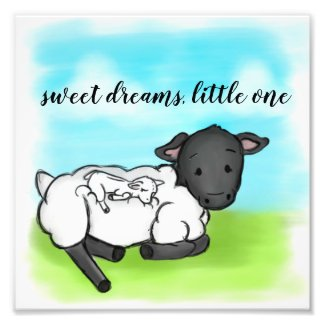 Sweet Dreams Little One Baby Lamb Photo Print