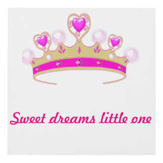 Sweet dreams little one plaque for baby child wall panel wall art