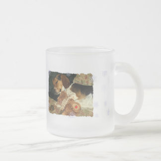 Sweet Dreams 10 Oz Frosted Glass Coffee Mug