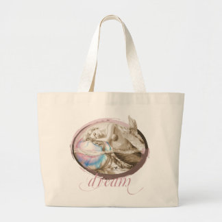 Sweet Dreams (Sepia) Large Tote Bag