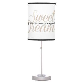 Sweet Dreams Sleep Tight Nursery Quote Lamp