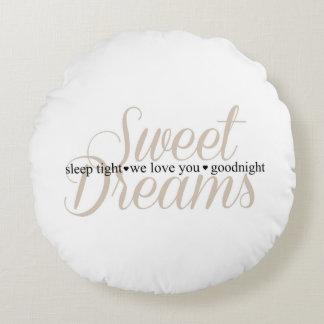 Sweet Dreams Sleep Tight Nursery Quote Pillow