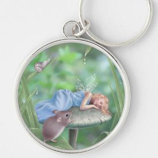 Sweet Dreams Sleeping Fairy Child Premium Keychain
