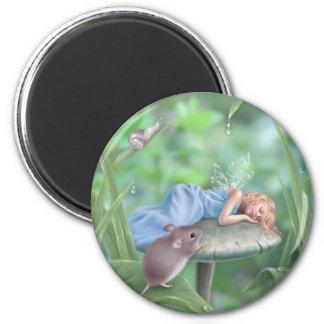 Sweet Dreams Sleeping Fairy & Mouse Magnet