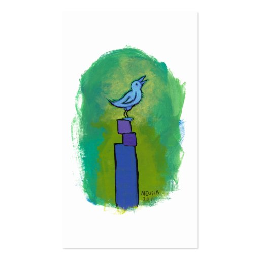 Sweet Dreams Song tiny art singing bird painting Business Card Template