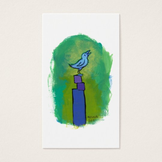 Sweet Dreams Song tiny art singing bird painting Business Card