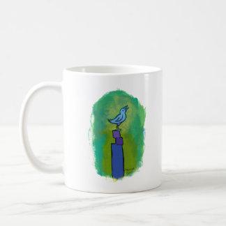 Sweet Dreams Song tiny art singing bird painting Coffee Mug