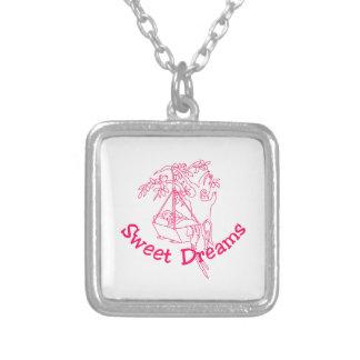 Sweet Dreams Square Pendant Necklace