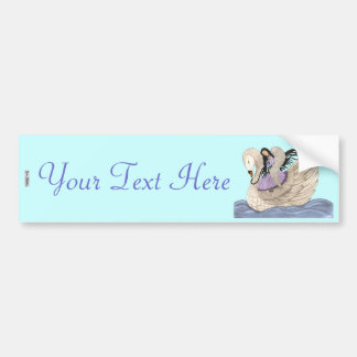 Sweet Dreams (The Angel & The Swan) (Full Colour) Bumper Sticker