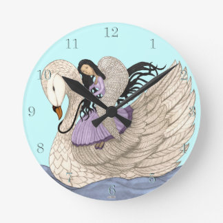 Sweet Dreams(The Angel & The Swan) Round Clock